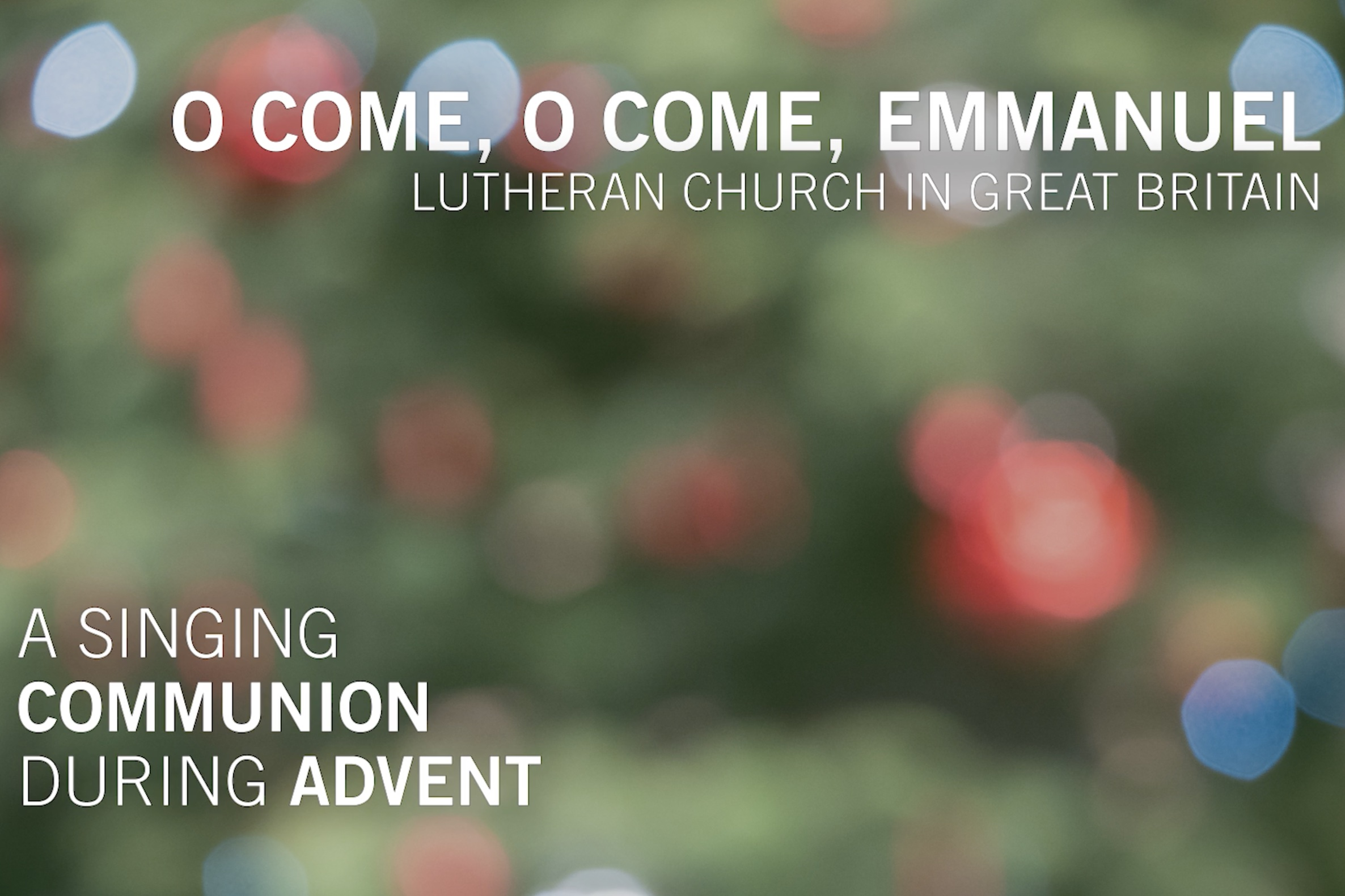 Lutherans in the UK are part of the LWF's singing communion in Advent 2020